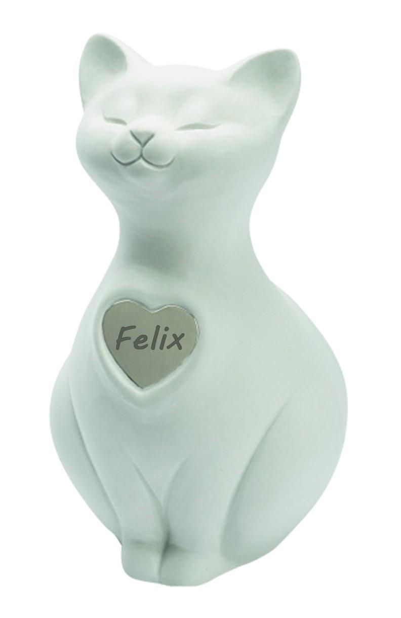 Urna Gatto Personalizzabile in porcellana