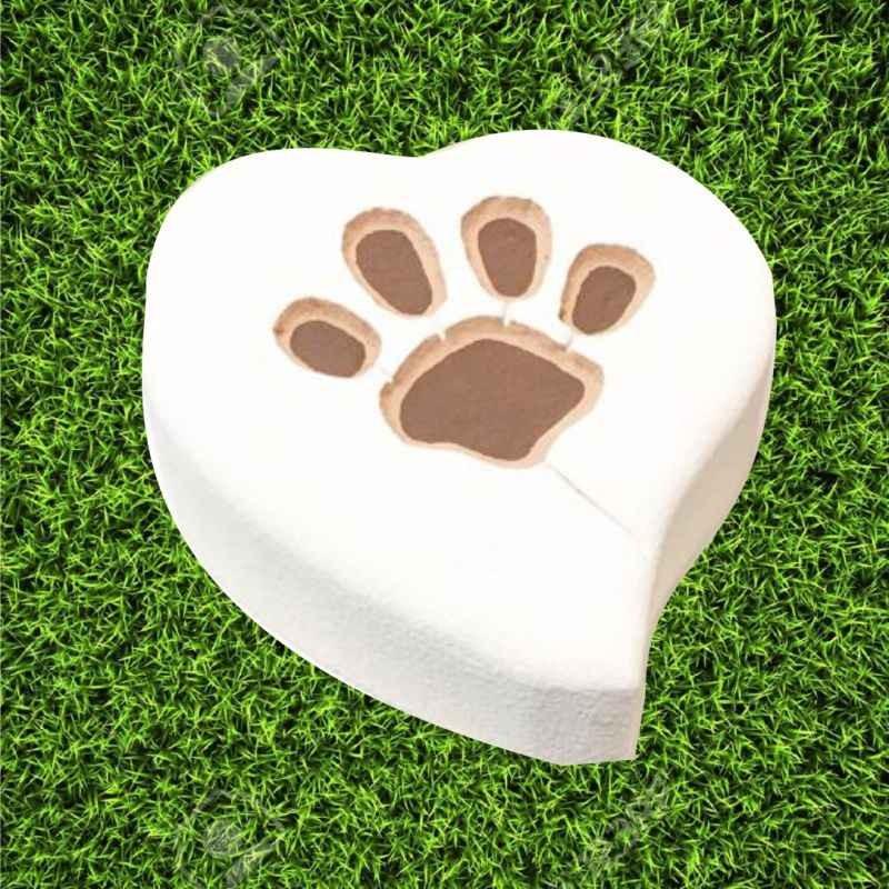 Tomba per animale cane o gatto modello orma a cuore