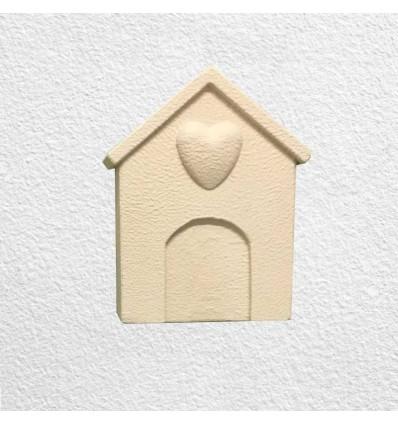 Lapide per cane o gatto verticale da parete modello cuccia - MyPeterPan