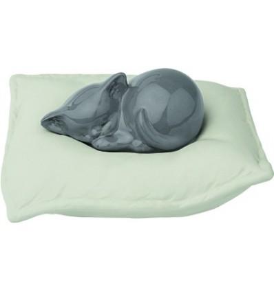 Urna cineraria per gatto in porcellana modello cuscino