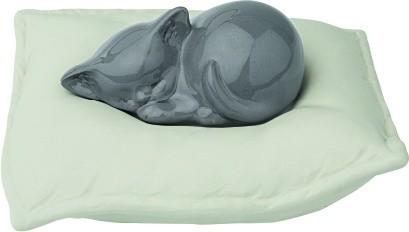 Urna Gatto Modello Cuscino in porcellana