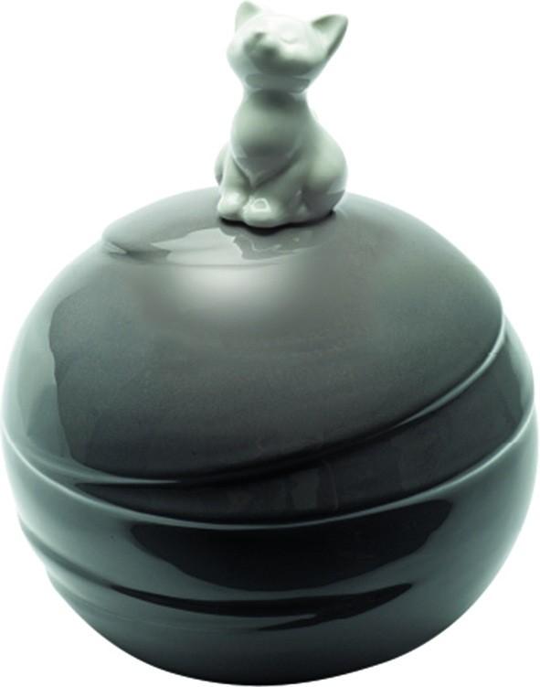 Urna Gatto Modello Sfera in porcellana
