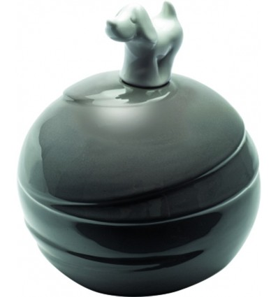 Urna Cane Modello Sfera in porcellana