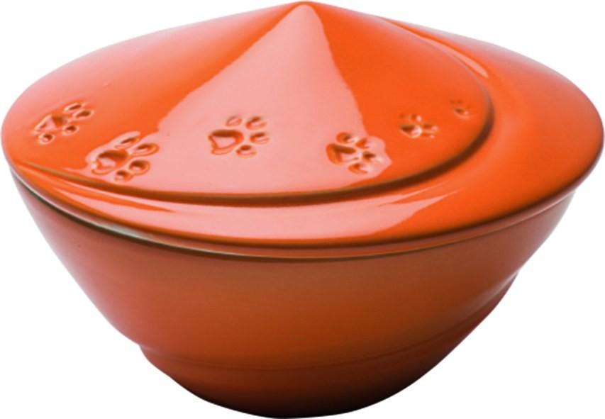Urna Cane Modello Trottola in porcellana