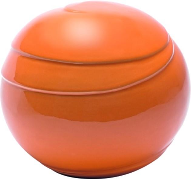 Urna Gatto Modello Palla in porcellana